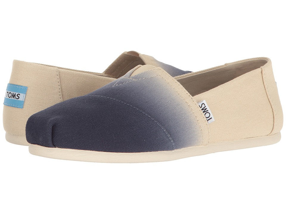 Toms Seasonal Classics (Navy Dip-Dye) Women's Slip on  Shoes