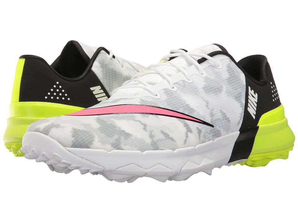 Nike Golf Flex (White/Racer Pink/Black/Volt) Men