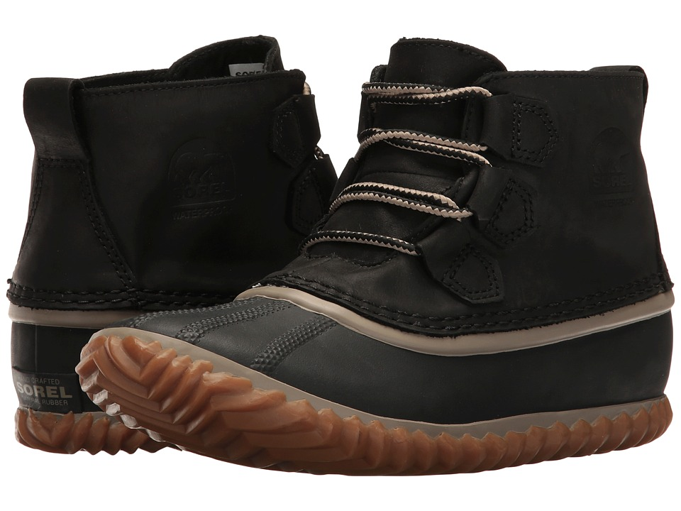 SOREL - Out N Abouttm Leather (Black 3) Womens Boots