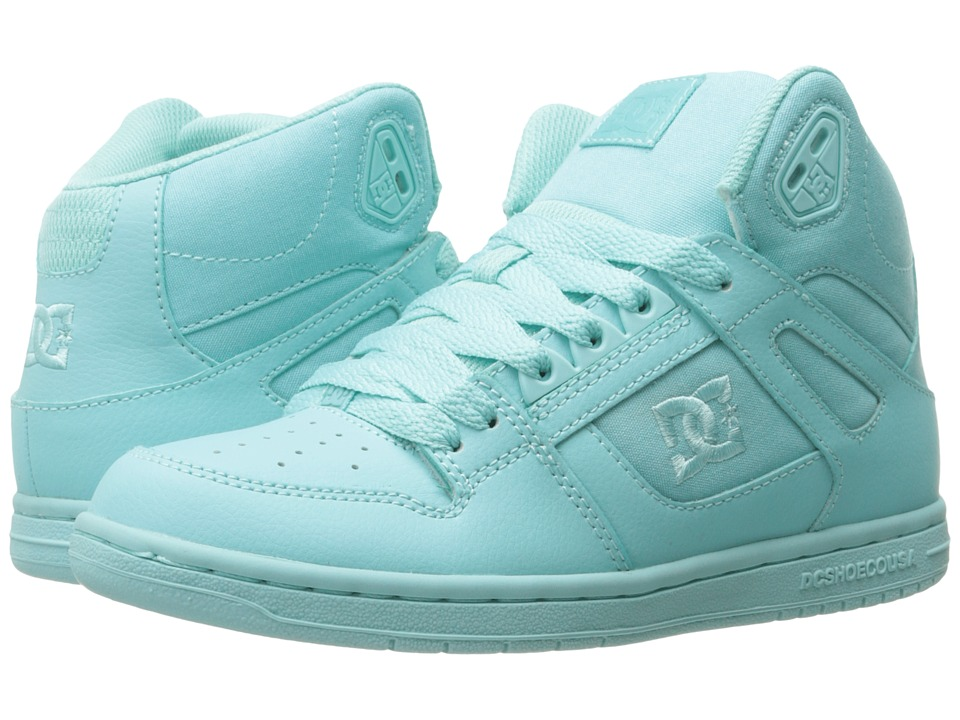 DC - Rebound Hi W (Aqua) Womens Skate Shoes