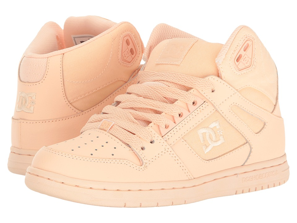DC - Rebound Hi W (Peach Cream) Womens Skate Shoes