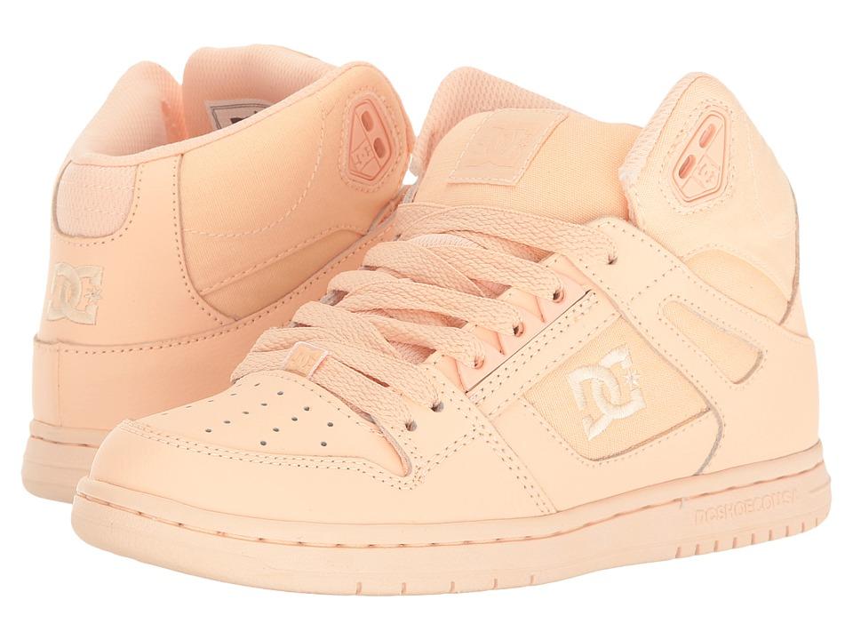DC - Rebound Hi W (Peach Cream) Womens Skate Shoes