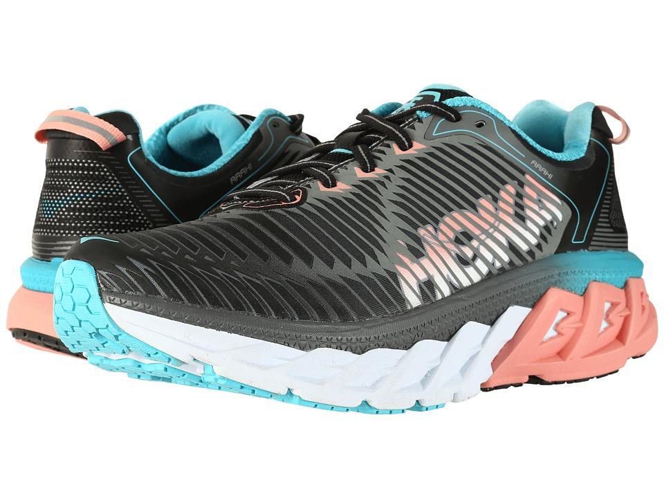 Hoka One One - Arahi (Black/Peach Amber) Womens Running Shoes