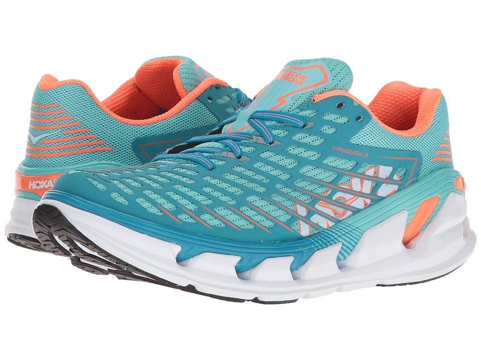 Hoka One One Vanquish 3 (Blue Radiance/Neon Coral) Women's Running Shoes