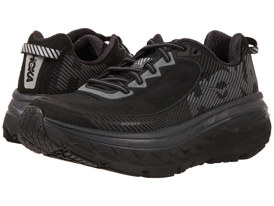 Hoka One One - Bondi 5 (Black/Anthracite) Women's Running...