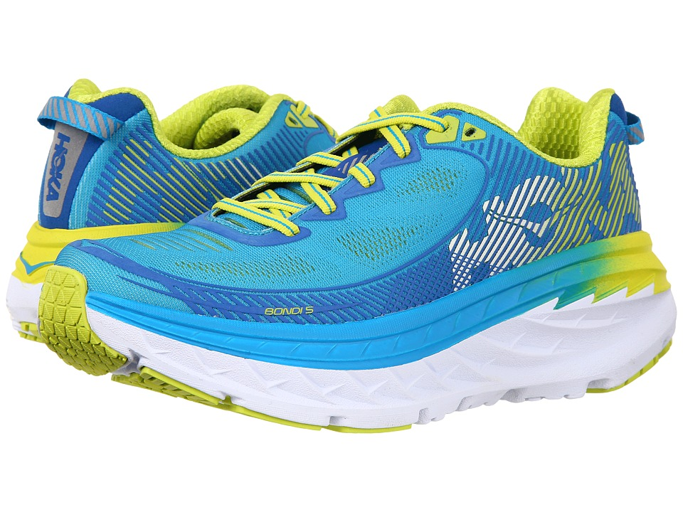 Hoka One One Bondi 5 (Blue Jewel/Acid) Women