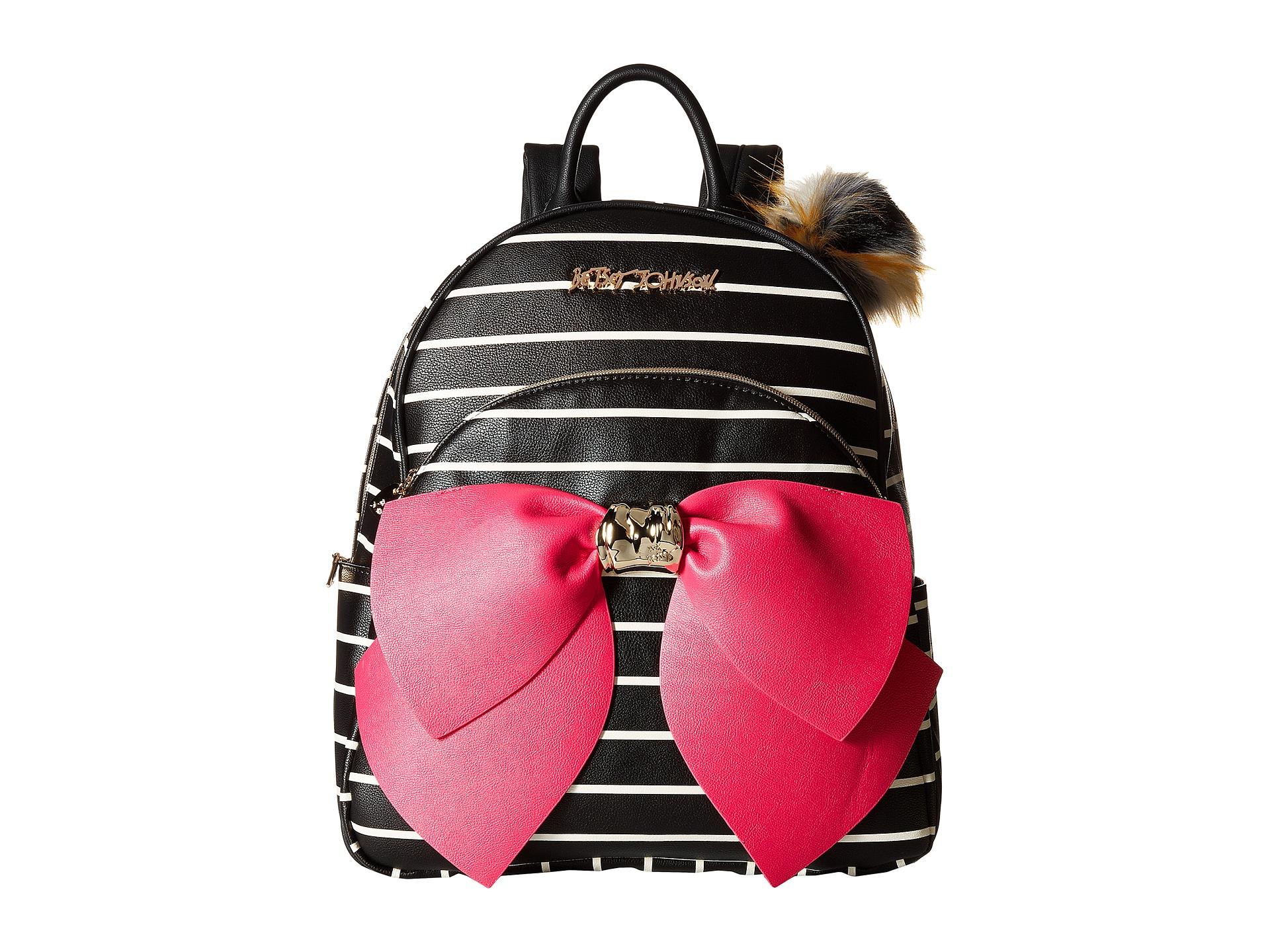 Betsey Johnson Bow Backpack BlackStripe Zapposcom Free Shipping