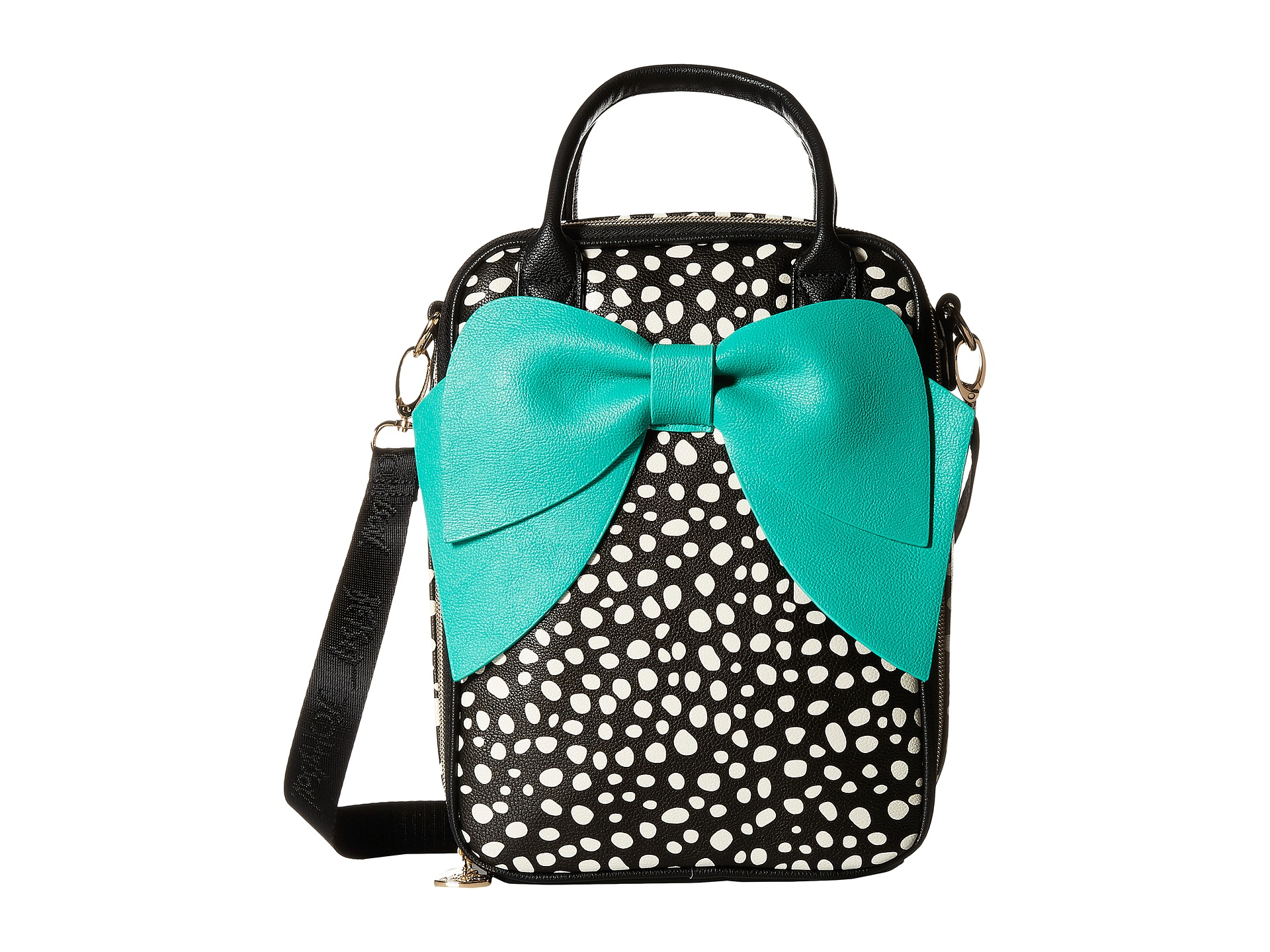 Betsey Johnson Bow Lunch Tote Spot - Zappos.com Free ...