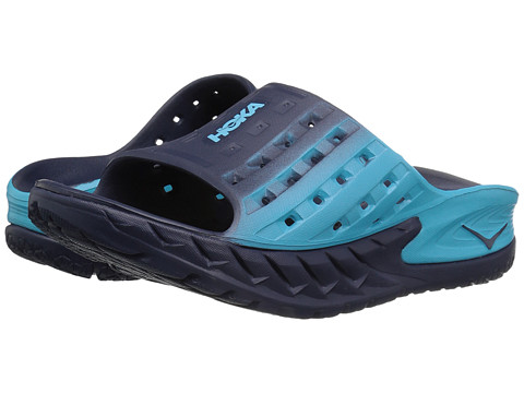 Hoka One One Ora Recovery Slide - Medieval Blue/Blue Atoll