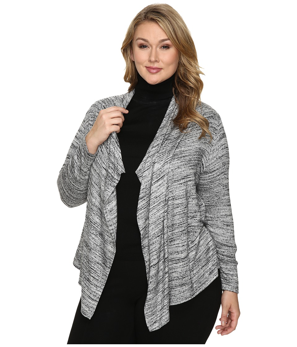 Karen Kane Plus Plus Size Drape Cardigan (Light Gray) Women