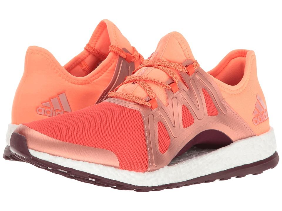 adidas Running PureBOOST Xpose (Energy/Glow Orange/Maroon) Women