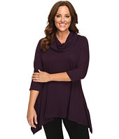 Karen Kane Plus - Plus Size Cowl Neck Handkerchief Top