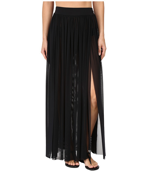 JETS by Jessika Allen Aspire Layered Mesh Maxi Skirt Cover-Up - Black