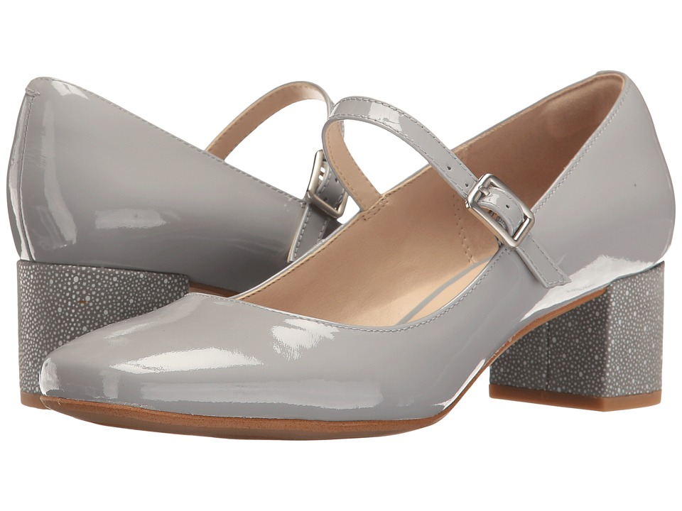 Clarks Chinaberry Pop (Grey/Blue Patent) Women