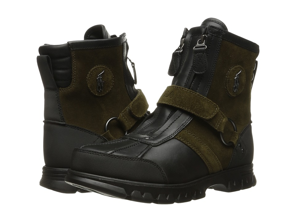 Polo Ralph Lauren Conqst Hi I (Black/Olive) Men