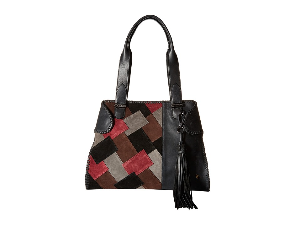 Elliott Lucca - Gisele Satchel (Black Patch) Satchel Handbags