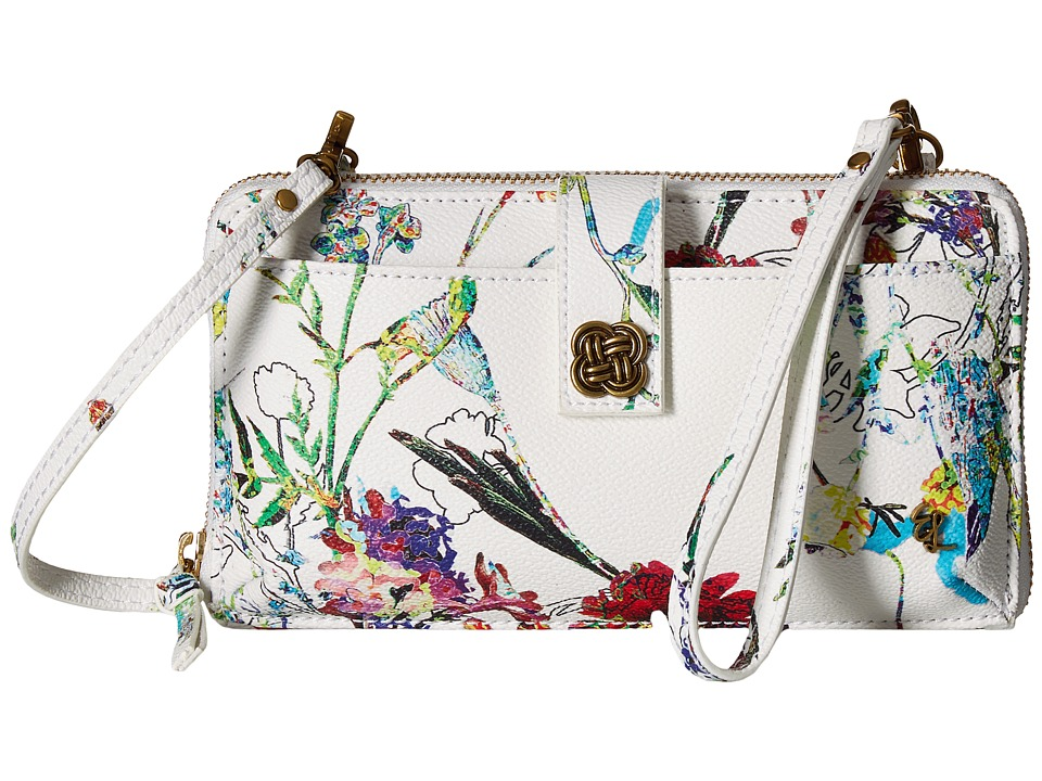 Elliott Lucca - Theo Large Smartphone Crossbody (White Spring Botanica) Cross Body Handbags