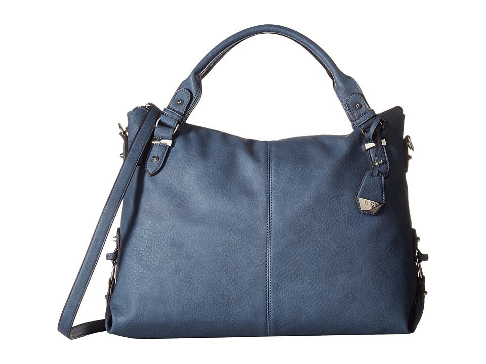 Jessica Simpson - Mara Crossbody Tote (Indigo) Satchel Handbags