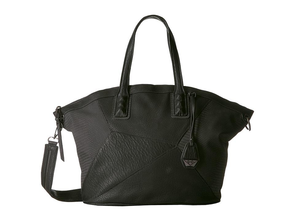 Jessica Simpson - Pamela Dome Satchel (Black) Satchel Handbags