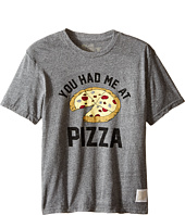 The Original Retro Brand Kids - You Had Me At Pizza Short Sleeve Tri-Blend Tee (Little Kids/Big Kids)