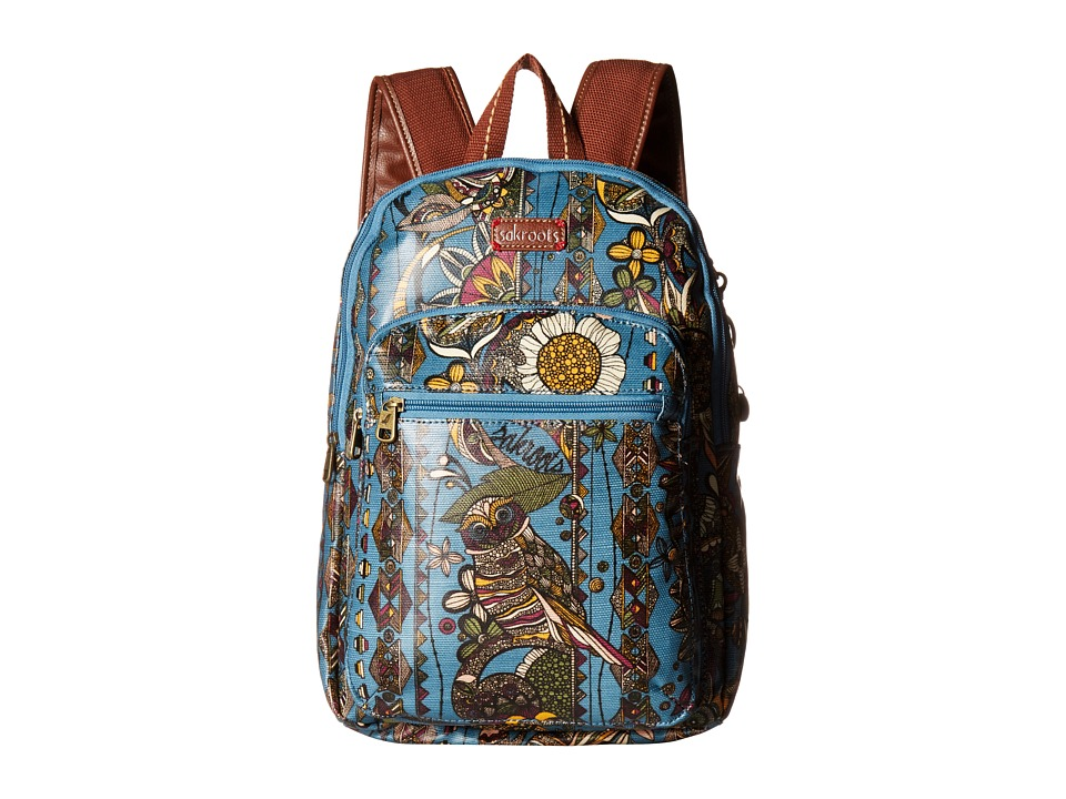 Sakroots - Artist Circle Mini Backpack (Lagoon Spirit Desert) Backpack Bags
