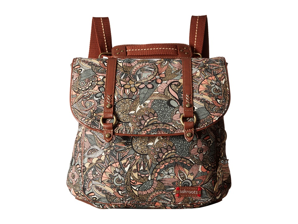 Sakroots - Artist Circle Convertible Backpack (Sienna Spirit Desert) Backpack Bags