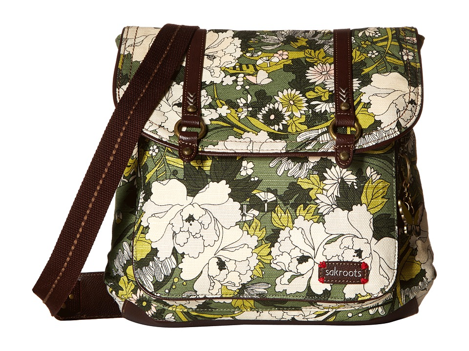 Sakroots - Artist Circle Convertible Backpack (Olive Flower Power) Backpack Bags