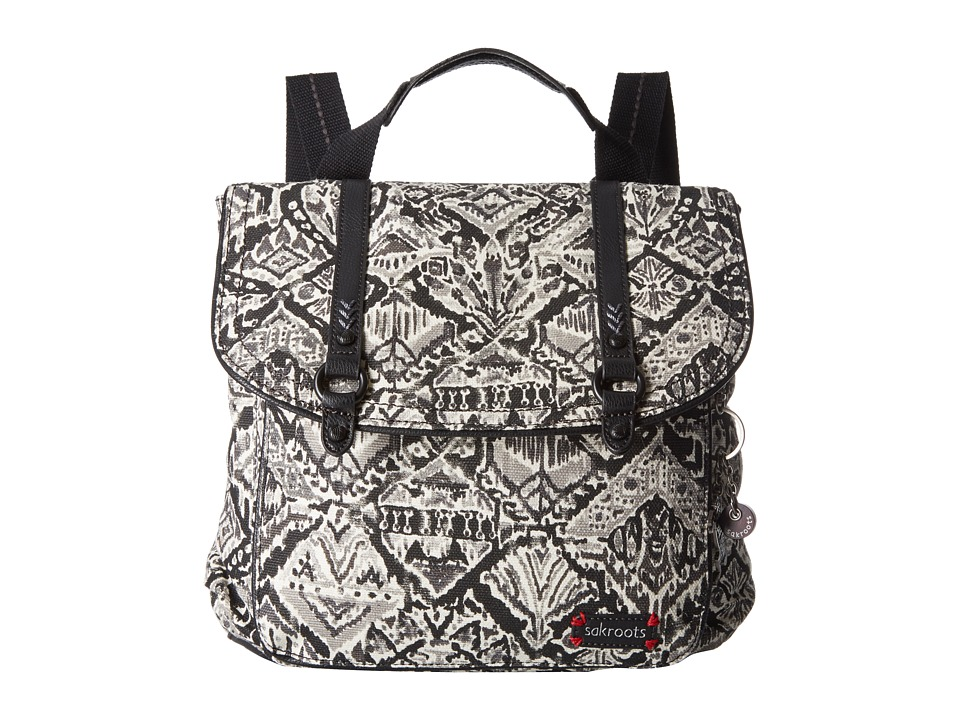 Sakroots Artist Circle Convertible Backpack (Jet Brave Beauti) Backpack Bags