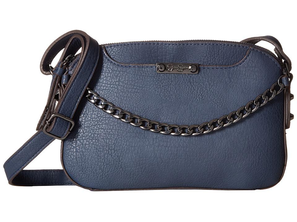 Jessica Simpson - Brixton Double Zip Crossbody (Indigo) Cross Body Handbags