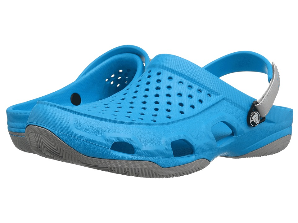 Crocs Swiftwater Deck Clog (Ocean/Light Grey) Men