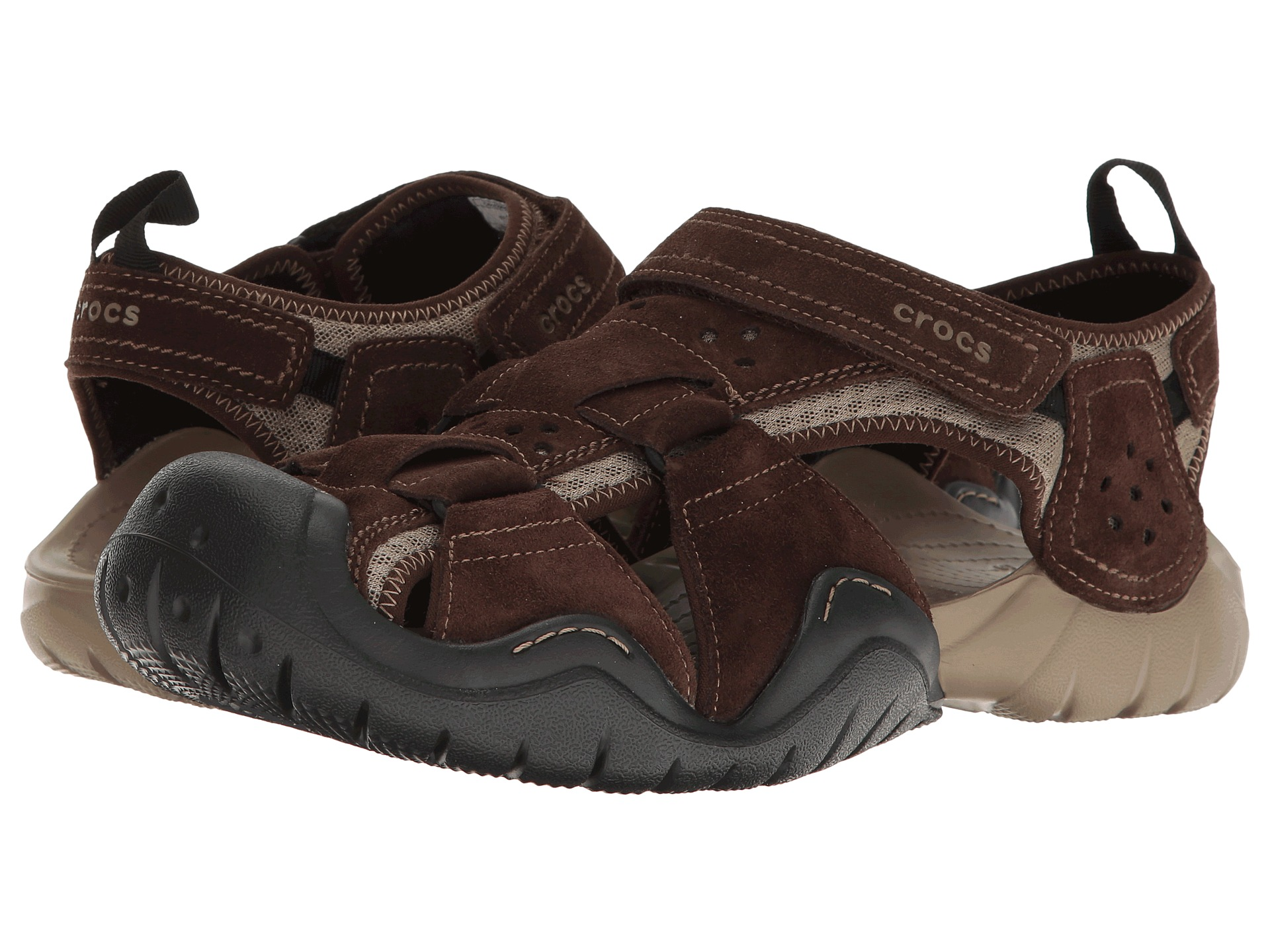 Crocs swiftwater suede fisherman at for Crocs fishing shoes