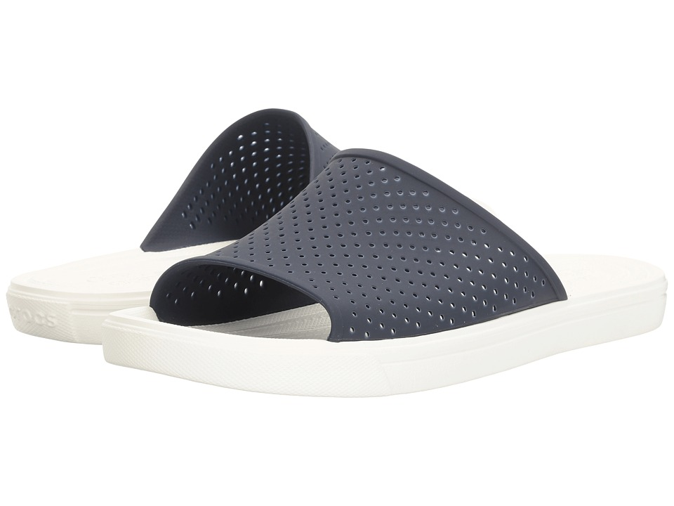 Crocs CitiLane Roka Slide (Navy/White) Slide Shoes