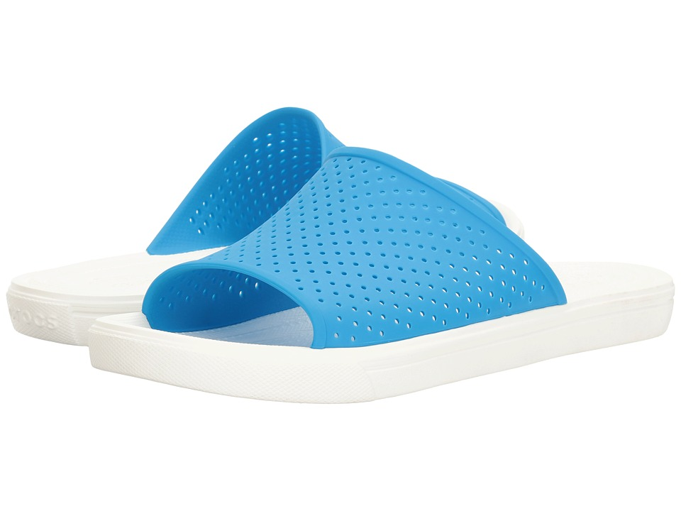 Crocs - CitiLane Roka Slide (Ocean/White) Slide Shoes
