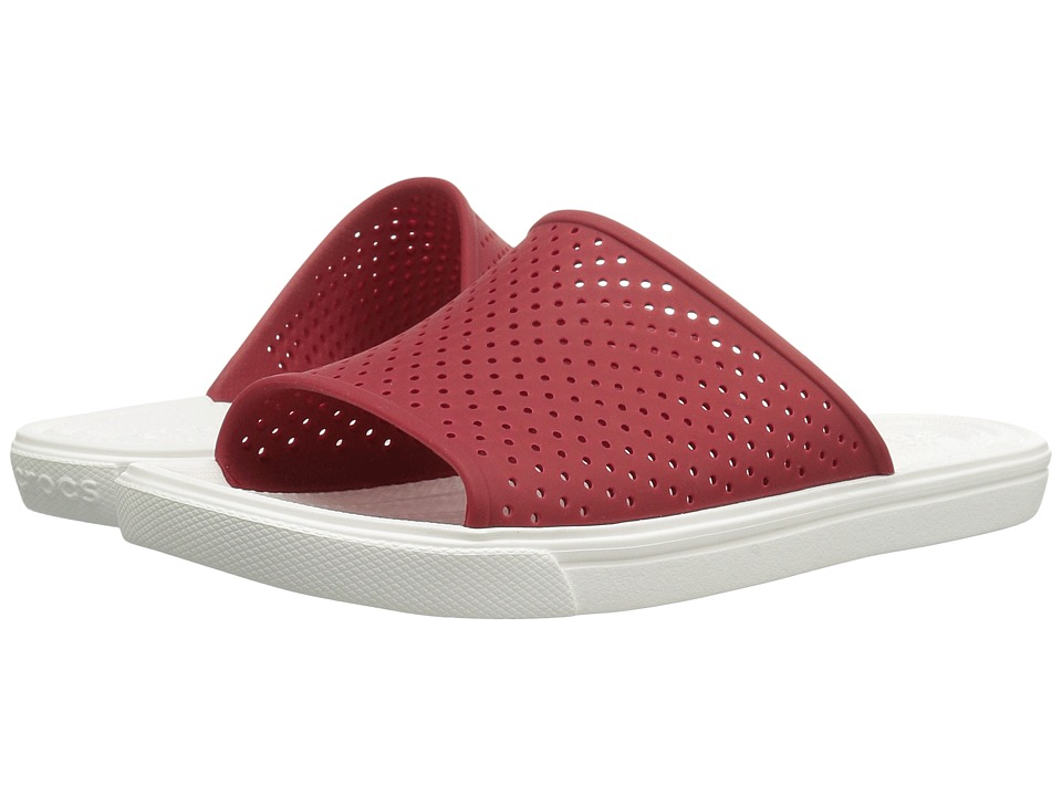Crocs CitiLane Roka Slide (Pepper/White) Slide Shoes
