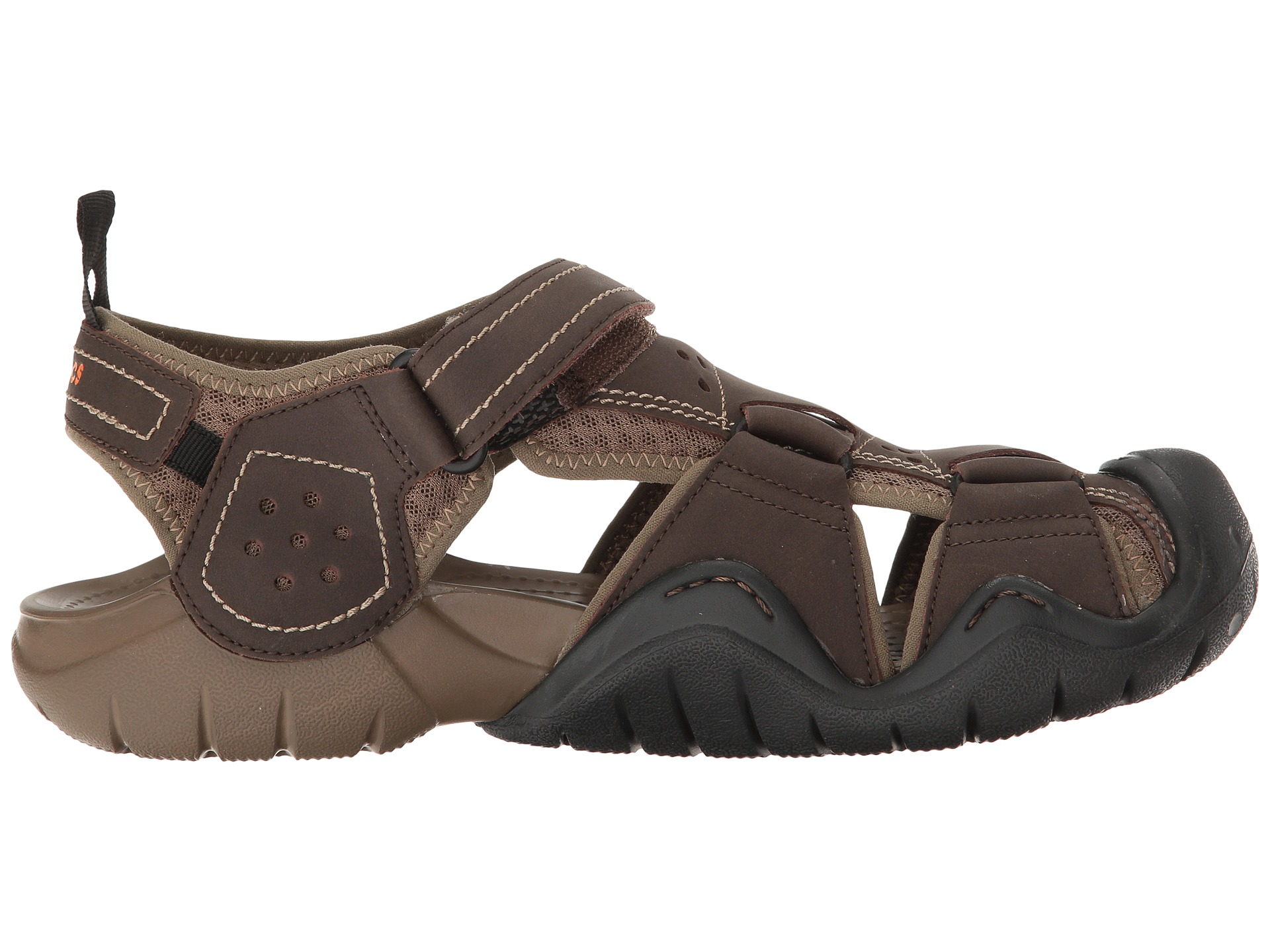 Crocs swiftwater leather fisherman at for Crocs fishing shoes
