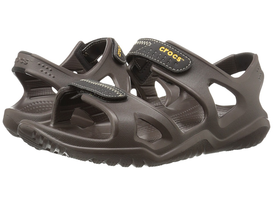 Crocs Swiftwater River Sandal (Espresso/Black) Men