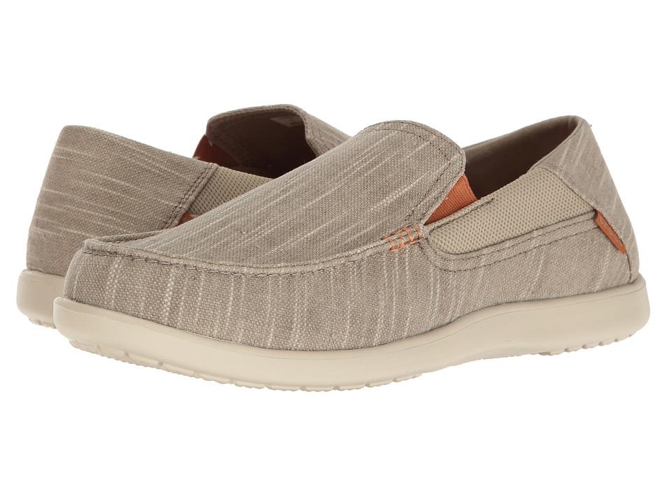 Crocs Santa Cruz II Luxe Slub Slip-On (Khaki/Stucco) Men