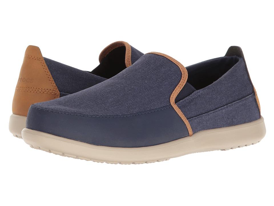Crocs Santa Cruz Deluxe Slip-On (Navy/Cobblestone) Men