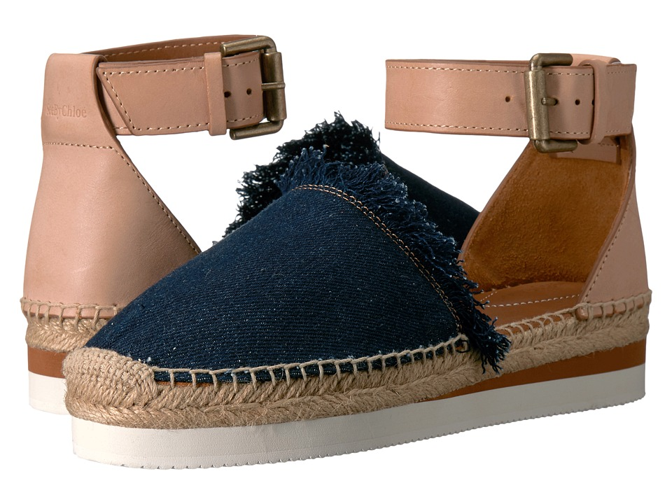 SEE BY CHLOE SB28151 (Navy/Beige) Women's Shoes