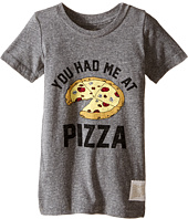 The Original Retro Brand Kids - You Had Me At Pizza Short Sleeve Tri-Blend Tee (Toddler)