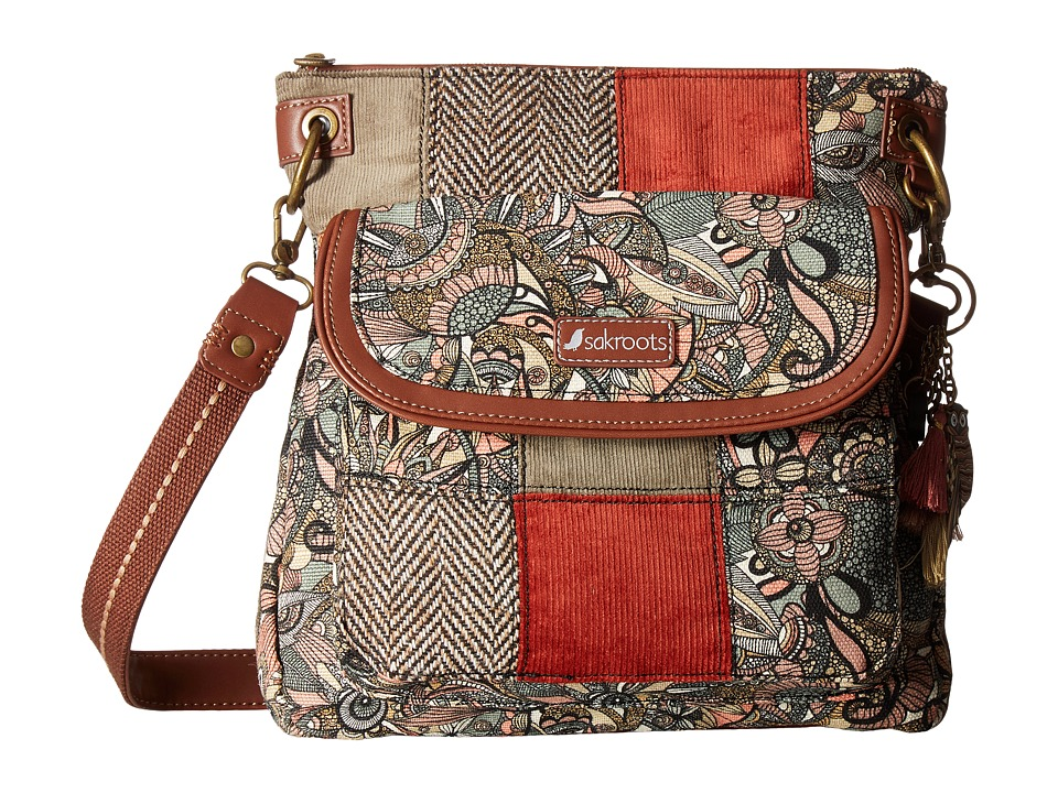 Sakroots - Artist Circle Flap Crossbody (Sienna Spirit Desert Patch) Cross Body Handbags