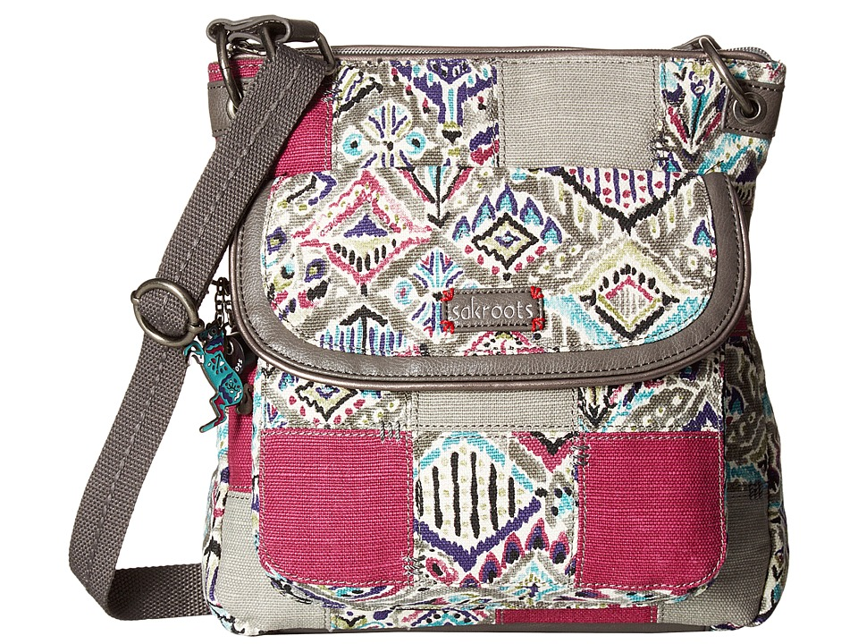 Sakroots - Artist Circle Flap Crossbody (Slate Brave Beauti Patch) Cross Body Handbags