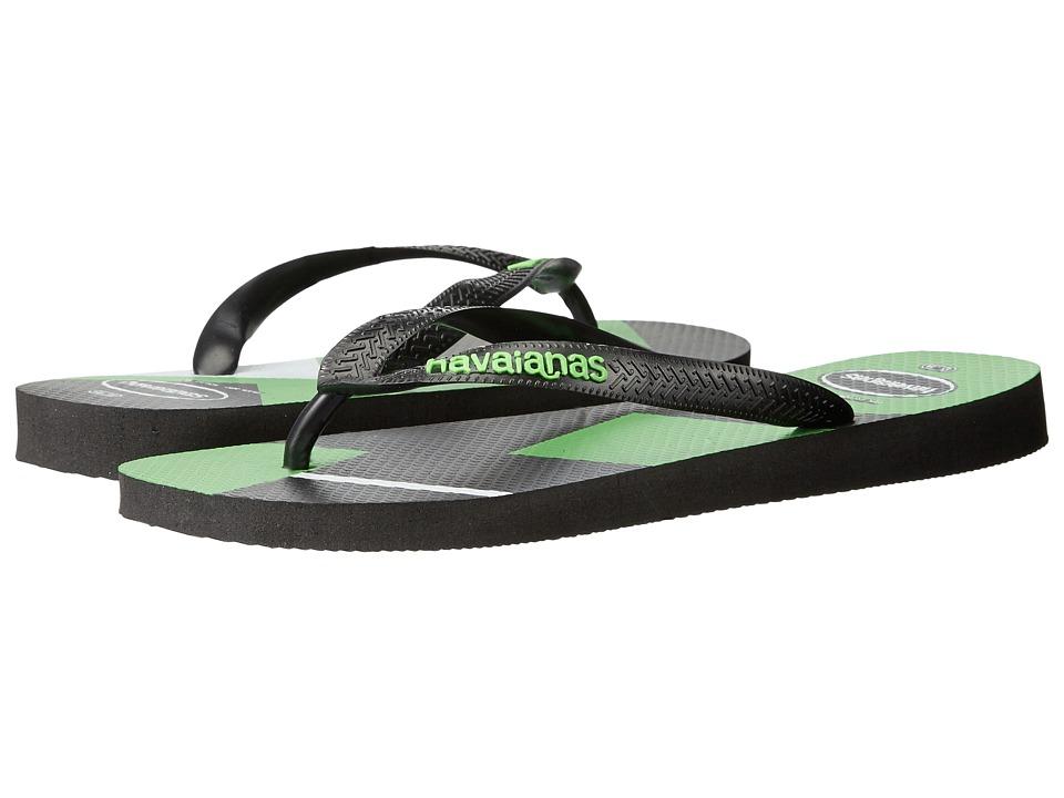 Havaianas Trend Geo Sandal (Black/Neon Green) Men