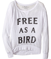 The Original Retro Brand Kids - Free As A Bird Burnout Long Sleeve Pullover (Little Kids/Big Kids)