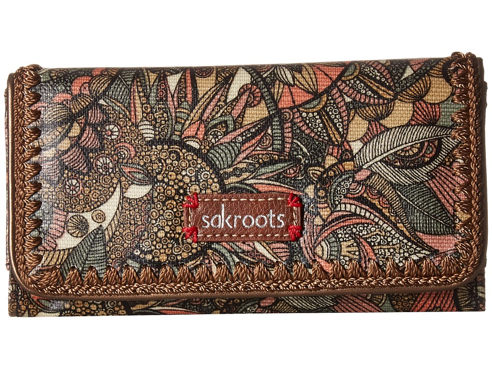 Sakroots - Artist Circle Tech Wallet Crossbody (Sienna Spirit Desert) Cross Body Handbags