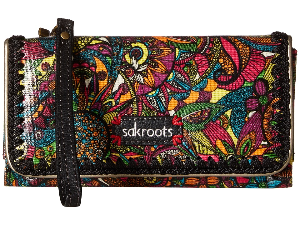 Sakroots - Artist Circle Tech Wallet Crossbody (Rainbow Spirit Desert) Cross Body Handbags