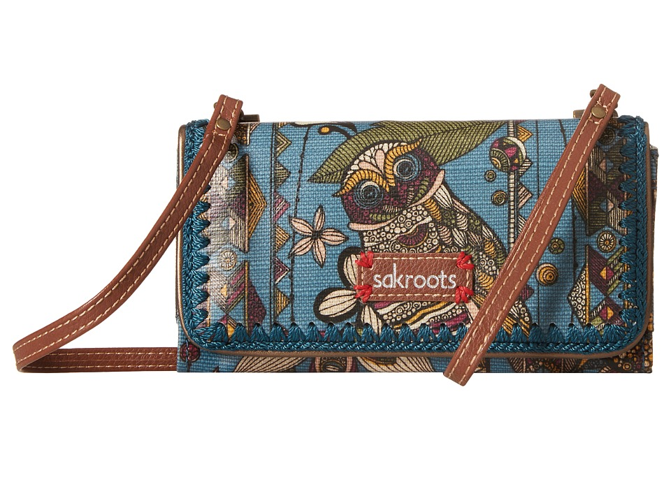 Sakroots - Artist Circle Tech Wallet Crossbody (Lagoon Spirit Desert) Cross Body Handbags