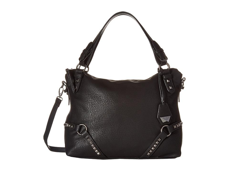 Jessica Simpson - Kiara Crossbody Satchel (Black) Satchel Handbags
