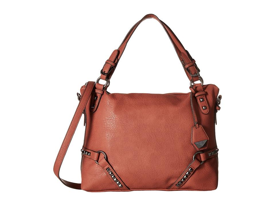 Jessica Simpson - Kiara Crossbody Satchel (Brandy) Satchel Handbags
