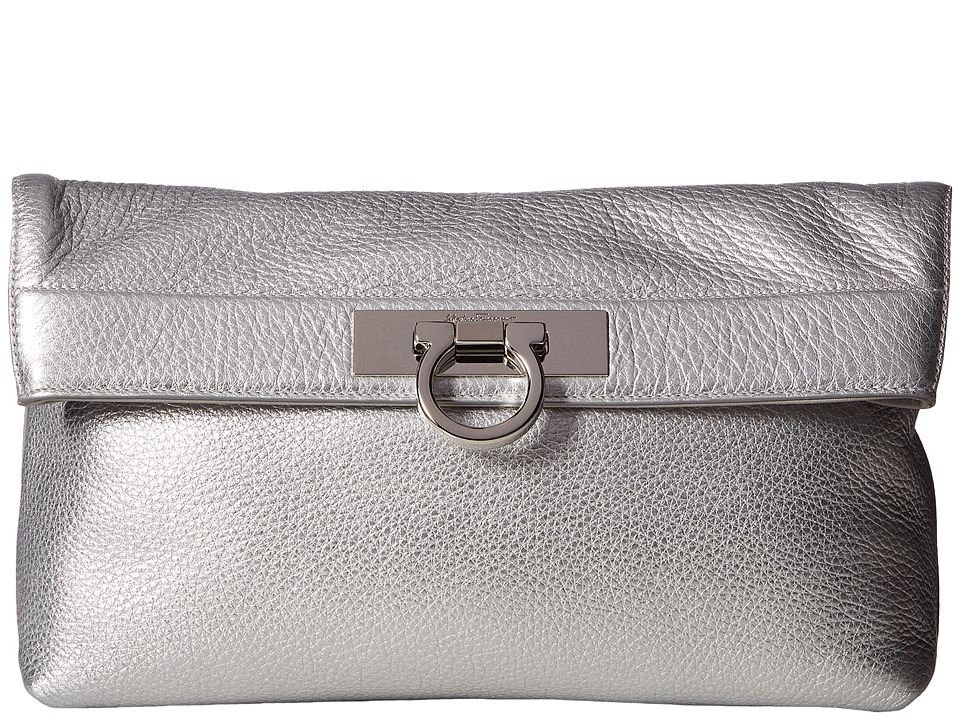 Salvatore Ferragamo May 21F562 (Argento) Clutch Handbags
